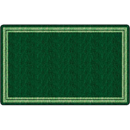 "Flagship Carpets Double-Border Rectangular Rug, 90"" x 144"", Clover Green"