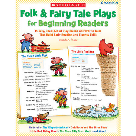 Scholastic Folk & Fairy Tale Plays For Beginning Readers