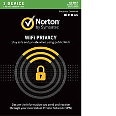 Norton WiFi Privacy VPN 1 Device