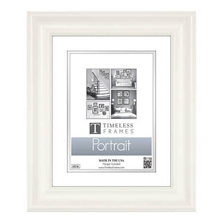"""Timeless Frames Lauren Portrait Frame, 11"""" x 14"""" (8"""" x 10"""" Mat), White"""