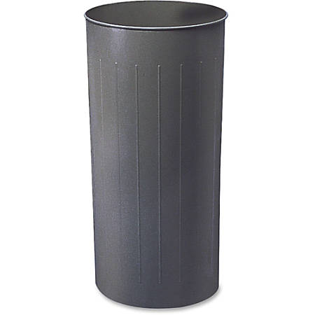 "Safco 20-gallon Steel Round Wastebasket - 20 gal Capacity - Round - 29.3"" Height x 16"" Depth x 15.8"" Diameter - Steel - Charcoal"