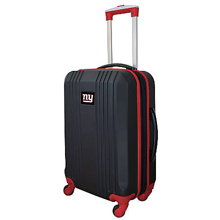 "Mojo L208 ABS Carry-On Hardcase Spinner, 21""H x 14""W x 9-1/2""D, New York Giants, Black/Red"
