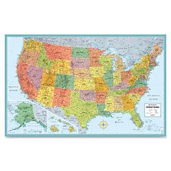 Rand McNally M Series Wall Map Laminated United States X By - United states wall map laminated
