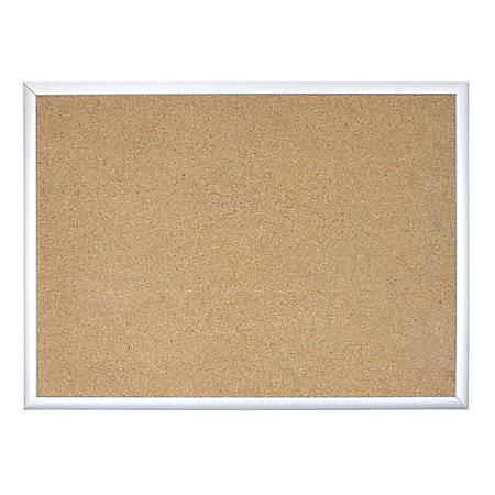 """U Brands Cork Bulletin Board, 72"""" x 48"""", Silver Aluminum Frame"""