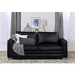 Serta Mason Sofa Black Bonded Leather