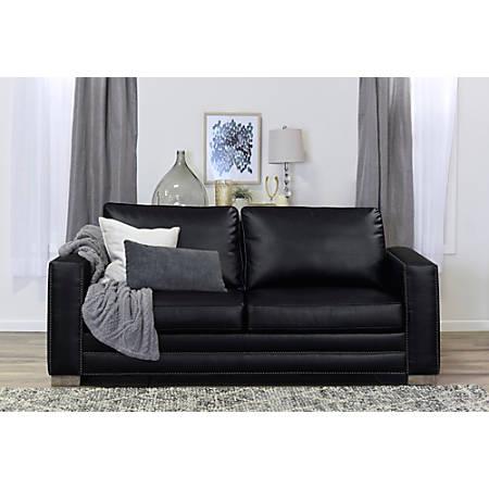 Serta Mason Sofa, Black Bonded Leather