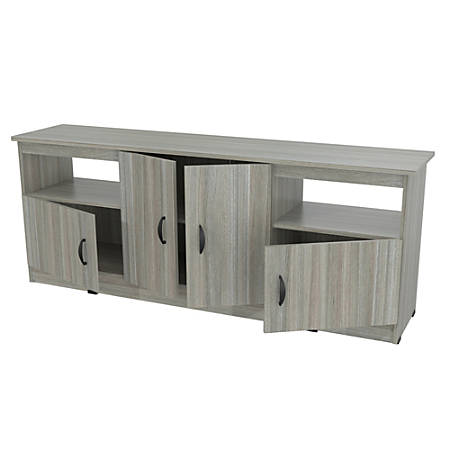 """Inval TV Stand For TVs Up to 60"""", Smoke Oak"""
