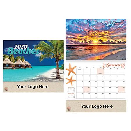 """Beaches 13-Month Stapled Wall Calendar, 10"""" x 10 3/8"""", December to December"""