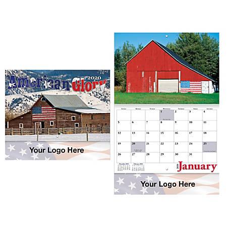 "American Glory 13-Month Stapled Wall Calendar, 10"" x 10 3/8"", December to December"