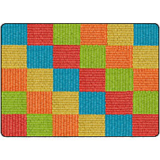 Flagship Carpets Basketweave Blocks Classroom Rug