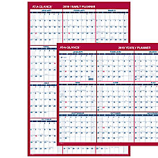AT A GLANCE Reversible VerticalHorizontal Yearly