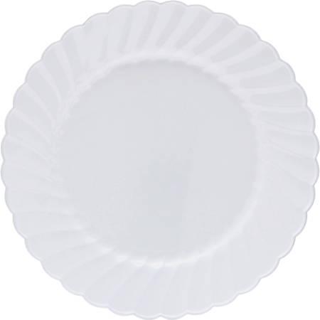 "Classicware WNA Comet Heavyweight Plastic White Plates - 9"" Diameter Plate - Polystyrene, Plastic - Disposable - White - 180 Piece(s) / Carton"