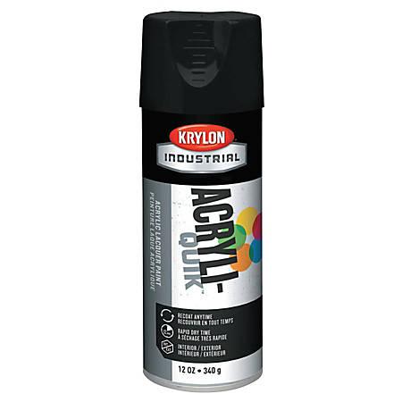 Krylon® Interior/Exterior Industrial Maintenance Paint, 12 Oz Aerosol Can, Semi-Flat Black