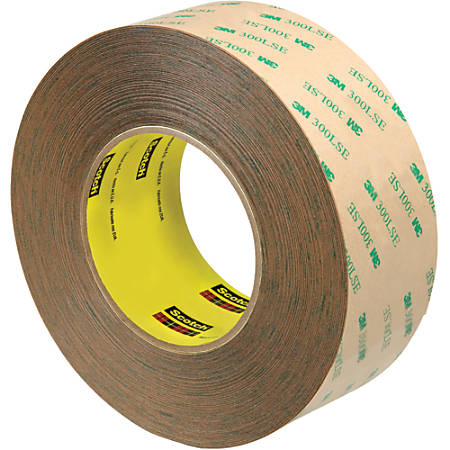 """Scotch® 9472LE Adhesive Transfer Tape Hand Rolls, 3"""" Core, 2"""" x 60 Yd., Clear, Case Of 6"""