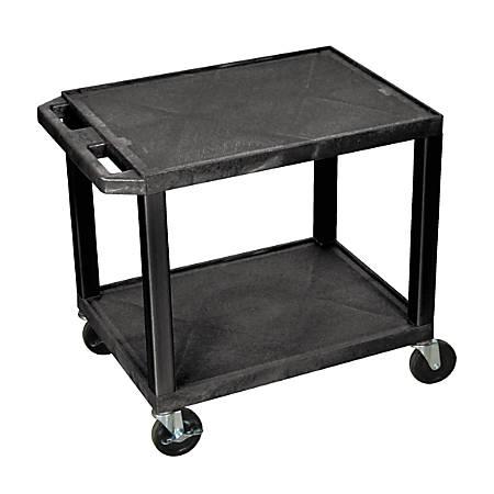 "H. Wilson 26"" Plastic Utility Cart, 26""H x 24""W x 18""D, Black"