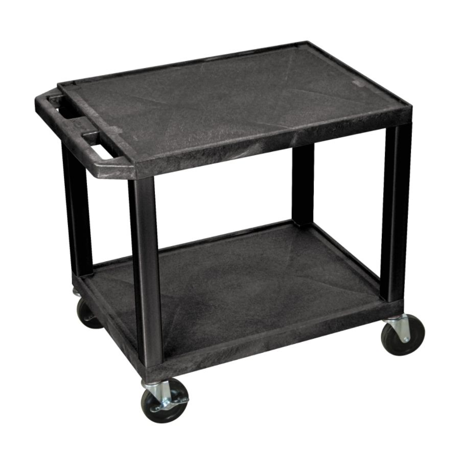 Delicieux H. Wilson 26 Plastic Utility Cart 26 H X 24 W X 18 D Black By Office Depot  U0026 OfficeMax