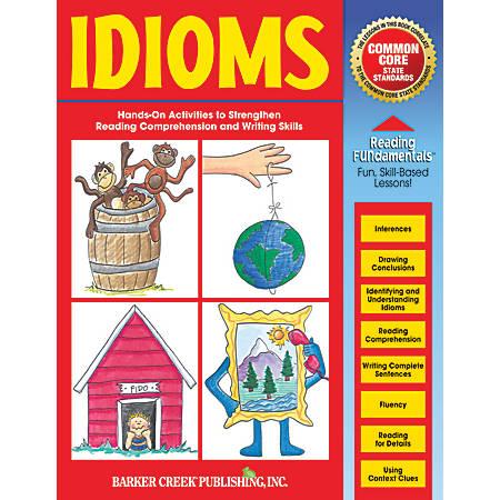 Barker Creek Grammar Activity Book, Idioms, Grades 1 To College