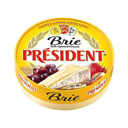 President Soft-Ripened Brie Cheese, 19.6 Oz