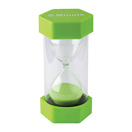 Teacher Created Resources 5-Minute Large Sand Timer, Green