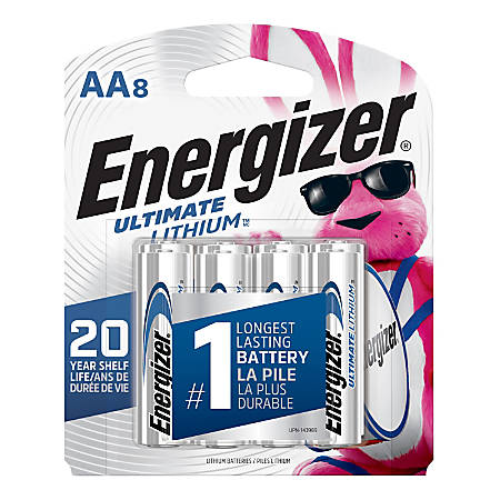 Energizer® Photo Ultimate Lithium AA Batteries, Pack Of 8 Batteries