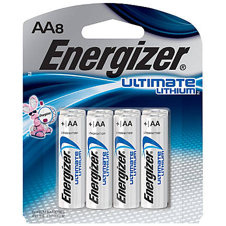 Energizer® Photo Ultimate Lithium AA Batteries, Pack Of 8