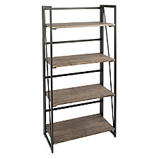 Lumisource Dakota Industrial 4 Shelf Bookcase