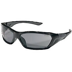 Crews ForceFlex Safety Glasses Black Frame