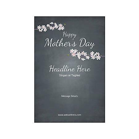 Custom Poster, Vertical, Mother's Day Black