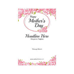 Custom Poster Vertical Mothers Day Roses