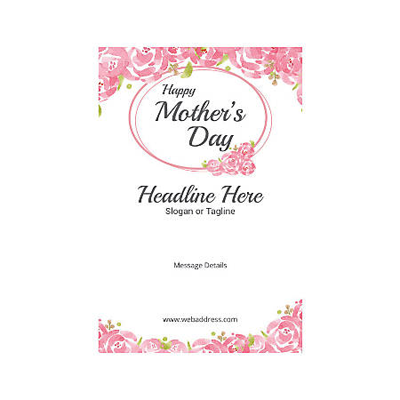 Custom Poster, Vertical, Mother's Day Roses