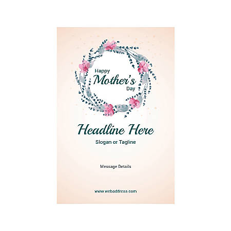 Custom Poster, Vertical, Mother's Day Circle
