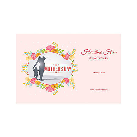 Custom Poster, Horizontal, Mother's Day Child