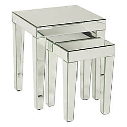 Ave Six Reflections Nesting Tables Rectangular