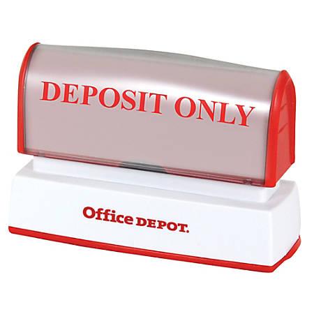 "Office Depot® Brand Pre-Inked Stamp, 9/16"" x 2 15/16"" Impression"