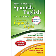Merriam Webster Spanish English Dictionary