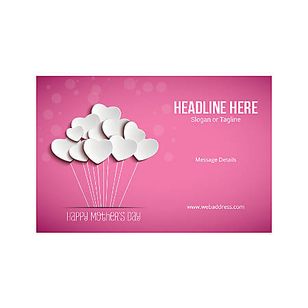 Custom Poster, Horizontal, Mother's Day Hearts