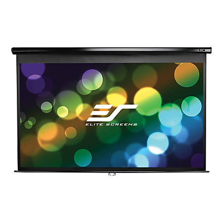 "Elite Screens Manual Series M128UWX - Projection screen - ceiling mountable, wall mountable - 128"" (128 in) - 16:10 - Matte White"