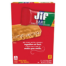 Jif Peanut Butter Granola Bars 140
