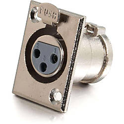 C2G XLR Female Panel Mount Connector