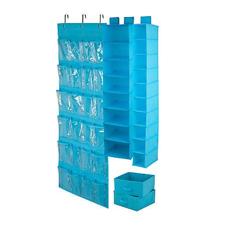 Honey-Can-Do 4-Piece Closet Organization Set, Ocean Blue