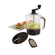 GNBI Spiral Slicer With Grater Black