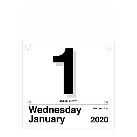 """AT-A-GLANCE® Today Is Daily Wall Calendar Refill, 8-1/2"""" x 8"""", January To December 2020, K450"""