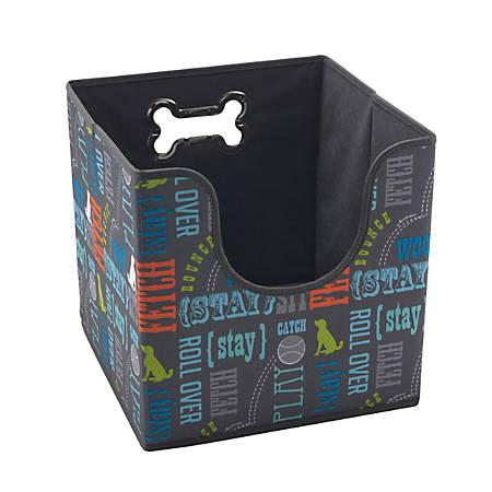 """Advantus Collapsible Pet Toy Bin, 12"""" x 12"""" x 12"""", Multicolor"""