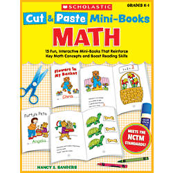 Scholastic Cut Paste Mini Books Math