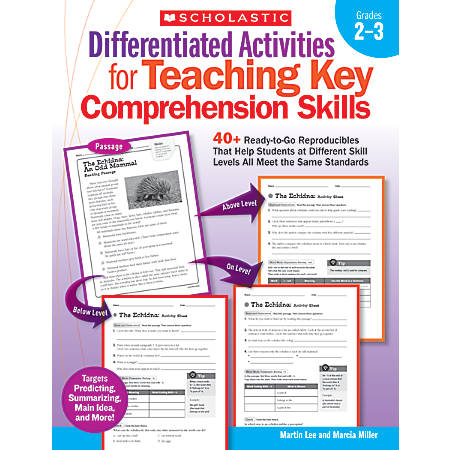 Scholastic Differentiated Activities For Teaching Key Comprehension Skills: Grades 2-3