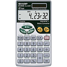 Sharp Calculators Sharp EL344RB Metric Conversion
