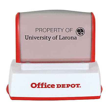"Office Depot® Brand Pre-Inked Stamp, 11/16"" x 2"" Impression"