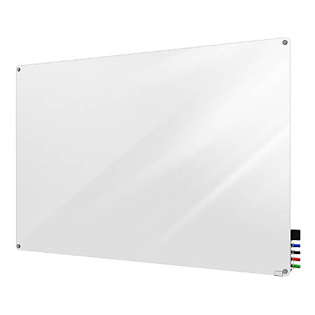 "Ghent Harmony Magnetic Glass Board, 36"" x 48"", White"