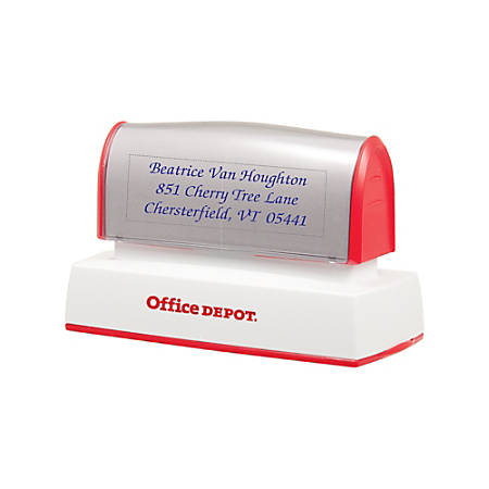 "Office Depot® Brand Pre-Inked Stamp, 1"" x 3 3/16"" Impression"
