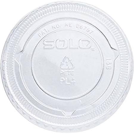 Solo® PET Plastic Soufflé Portion Cup Lids, Large, Clear, Pack Of 2,500